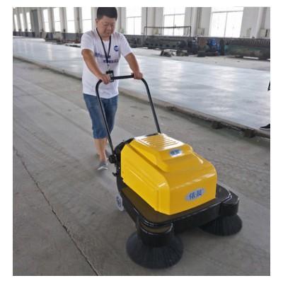手推式电瓶充电扫地机工业用电动式清扫机双刷小型道路扫叶机