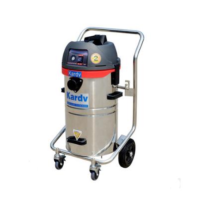 凯德威吸尘器车间保洁洗车场不锈钢手推式小型吸尘吸水机
