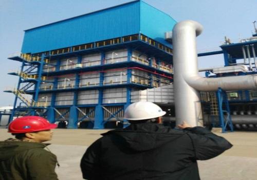 石油化工设备干冰清洗现场