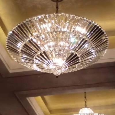 酒店大型水晶灯清洗